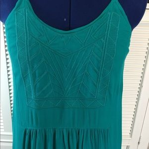 Forever 21 Teal maxi dress / front panel design
